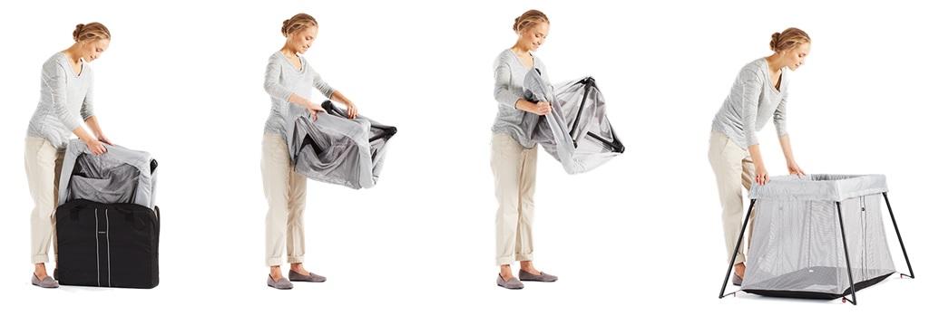 lit parapluie babybjorn light notre test et avis d 39 un mod le poids plume. Black Bedroom Furniture Sets. Home Design Ideas