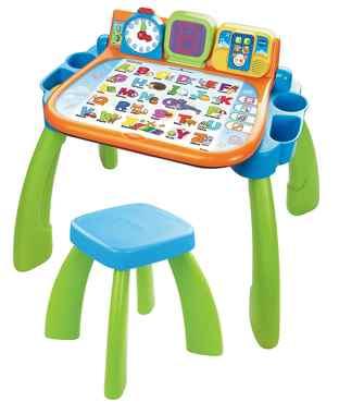 Table activite bebe VTech Magi Bureau Interactif 3 En 1