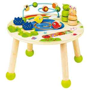 table activite bebe bois