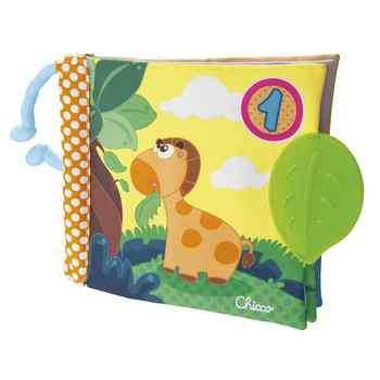Livre tissu pour bebe - Chico Baby Senses - une journee dans la jungle