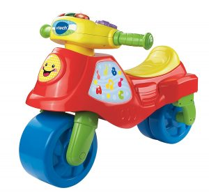 porteur bebe Vtech - 181705 - Tricycle - Cyclo-moto 2 En 1 - Rouge