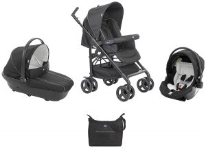 poussette trio Chicco - 07079366410000 - Trio Sprint - Poussette - Black Night
