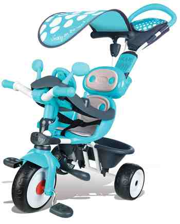 cadeau garcon 1 an - Smoby - 740601 - Baby Driver Confort - Tricycle Evolutif avec Roues Silencieuses