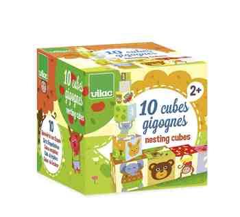 cadeau garcon 1 an - Vilac - 4600 - Jouet Premier Age - 10 Cubes Gigognes Mélusine