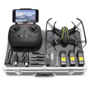 cadeau garcon 13 ans - Potensic Drone avec étui, RC QuadCopter Caméra HD Wifi FPV