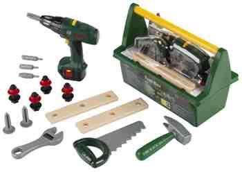cadeau garcon 2 ans - Klein - 8429 - Jeu d'imitation - Caisse à outils Bosch avec Visseuse