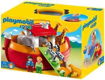 cadeau garcon 2 ans - Playmobil 1.2.3 - 6765 - Arche de Noé transportable