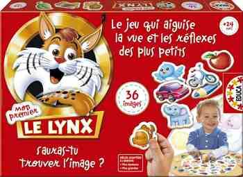 cadeau garcon 3 ans - Educa - 15492 - Jeu de Réflexion - Mon Premier Lynx - 36 Images