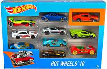 cadeau garcon 3 ans - Hot Wheels - 54886 - Véhicule Miniature - Coffret 10 Voitures