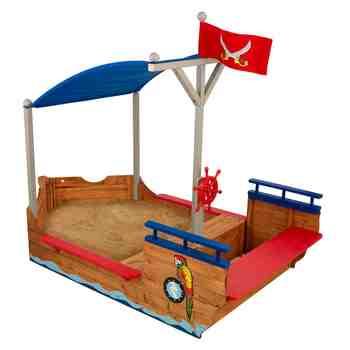cadeau garcon 3 ans - KidKraft - Bac à sable Bateau de pirate