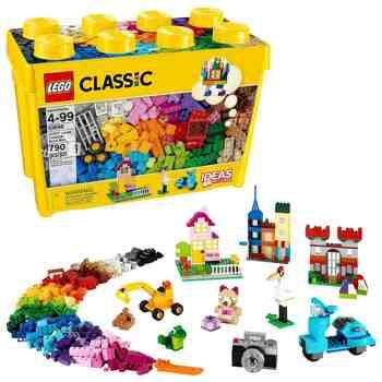 cadeau garcon 3 ans - LEGO - 10698 - Classic - Jeu de Construction - Boîte de briques créatives deluxe LEGO