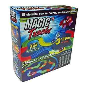 cadeau garcon 3 ans - MAGIC TRACK - Circuit lumineux - 3,35 mètres, modulable et brillant dans le noir - Vu à la Télé