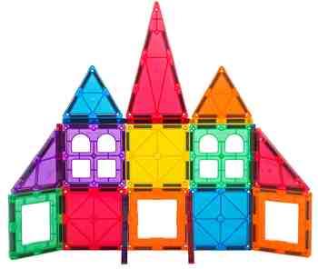 cadeau garcon 4 ans - Coffret Junior Playmags 32 pièces + 6 accessoires Clickins