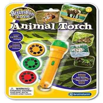 cadeau garcon 4 ans - Eureka éducatif pour enfants Toy d'animal de faune Torch & Projecteur