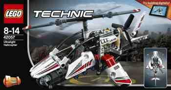 cadeau garcon 4 ans - LEGO - 42057 - Technic - Jeu de construction - L'hélicoptère Ultra-léger