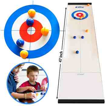 cadeau garcon 5 ans - Elite Sportz Table Top Curling Game