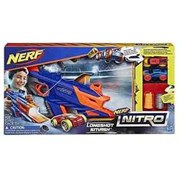 cadeau garcon 5 ans - Nerf - C0784EU40 - Nitro Longshot Smash