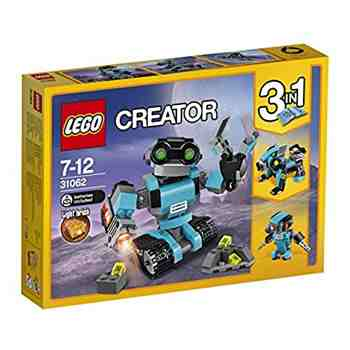 cadeau garcon 7 ans - LEGO - 31062 - Creator - Jeu de Construction - Le Robot Explorateur