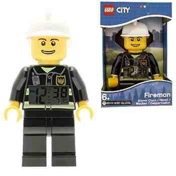 cadeau garcon 7 ans - Réveil figurine lumineux Pompier de LEGO City