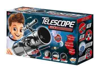 cadeau garcon 8 ans - Buki - TS008B - Télescope - 50 Activités