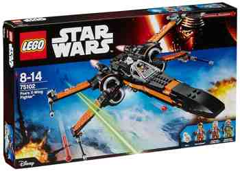 cadeau garcon 9 ans - LEGO - 75102 - Star Wars - Jeu de Construction - Poe's X-Wing Fighter