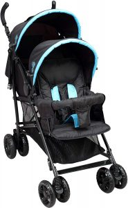 poussette canne double Bambisol DS301NT